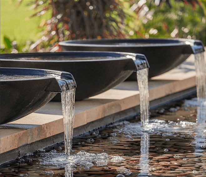 Wok bowl with spillway wg outdoor life perth - Swimming pool water features perth ...