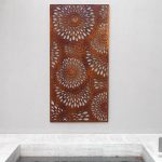 Viasi Laser Cut Outdoor Metal Screen Wall Art Perth