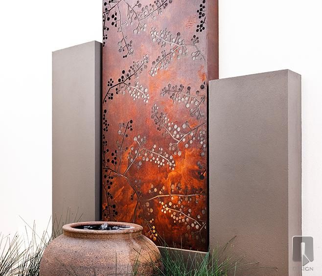 Rusted Metal Garden Screen