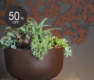 Serralunga Cup Planter | CORTEN