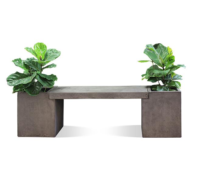 Litestone Tribecca Outdoor Concrete Planter Bench Seat Perth