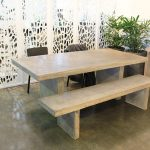 Casper Outdoor Furniture Dining Table Bay Bench Seat Concrete Perth WG Outdoor Life