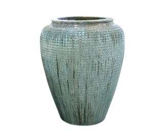 Glazed Dimple Jar