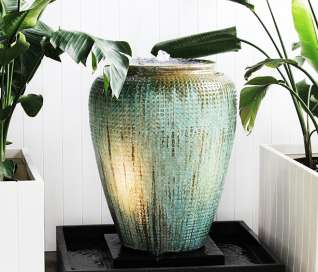 Glazed Dimple Jar Fountain