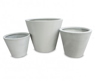 Lithos Round Tapered Planter
